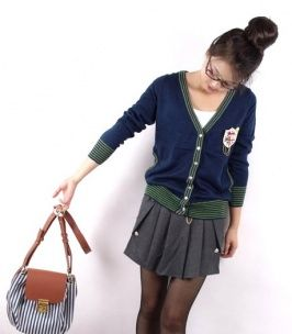 Korean Style Graceful Divided Skirt Gray