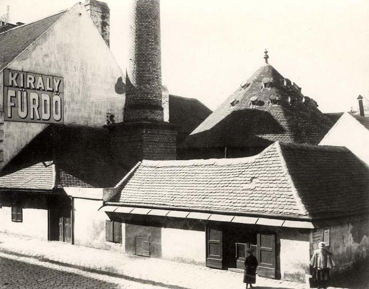Budapest. 2. kerület. Fő utca.Király fürdő az 1910-es években