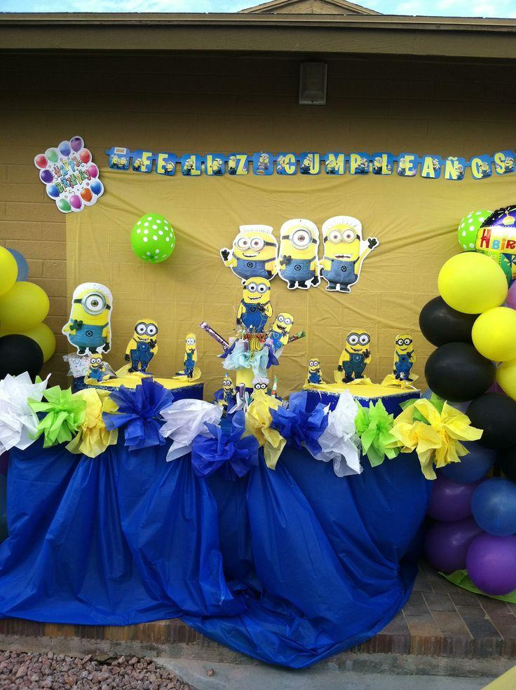 Minions decoraciones cumplea os de mateo pinterest - Decoraciones de cumpleanos ...