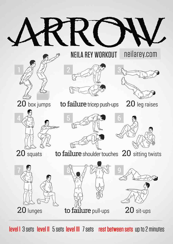 Stephen Amell Workout For Arrow The Stephen Amell workout for Arrow uses all types of bodyweight training. Stephen Amell says his workouts vary constantly. Therefore, there's no workout set in stone. Since, the Oliver Queen actor doesn't workout in a gym, he is free to do whatever he wants. Amell says that varying workouts to