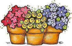 flower pot clipart - Google Search