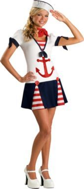 Teen Girls Sassy Sailor Costume- Top Costumes- Teen Girls Costumes- Teen Costumes- Halloween Costumes - Party City