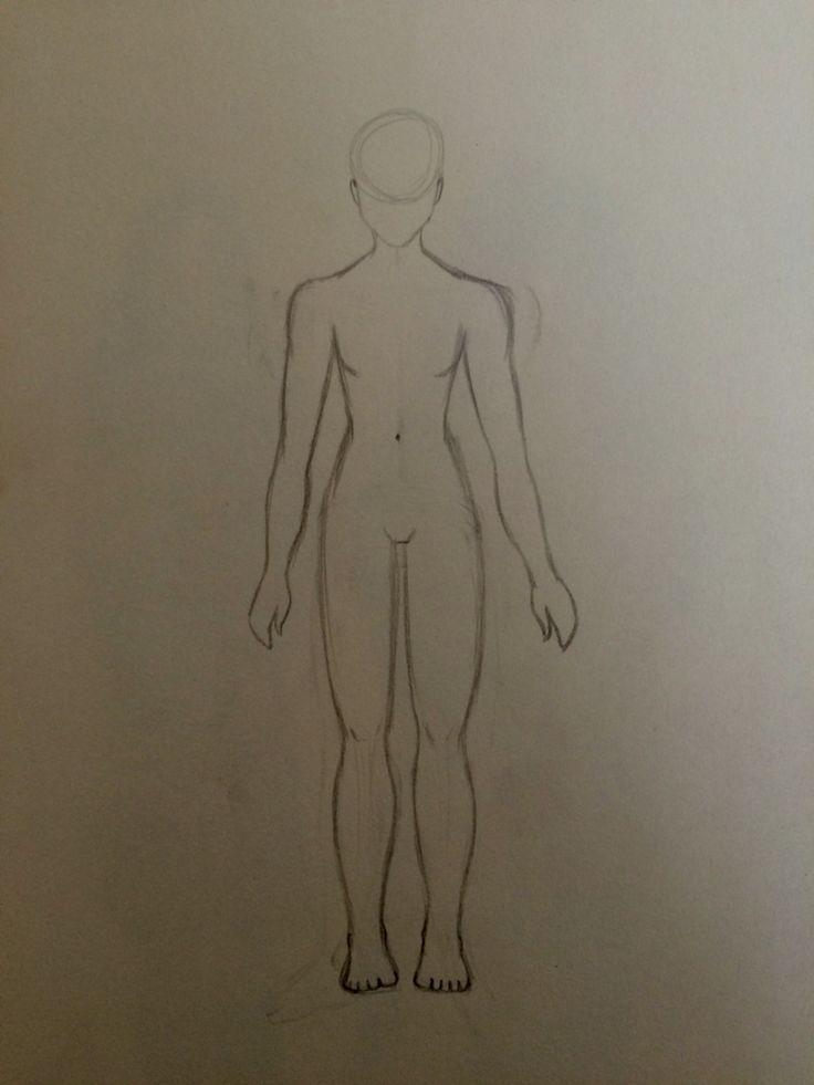 Human anatomy sketch practice: female