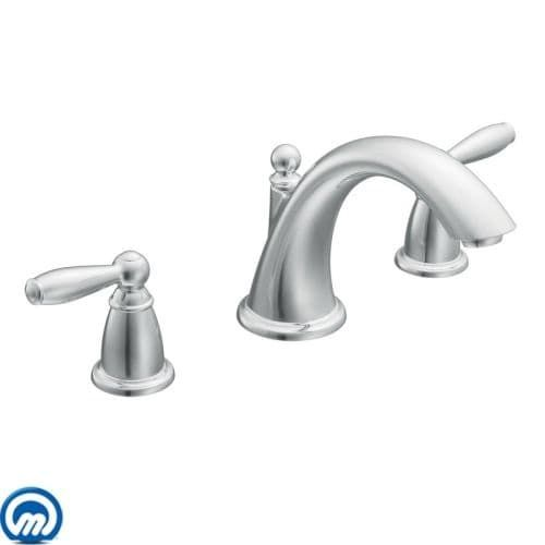 moen t4943 deck mounted roman tub faucet trim from the brantford collection less valve bronze finish