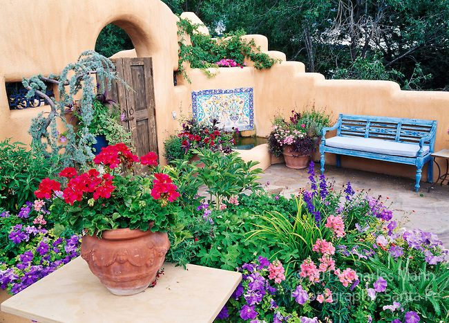 Susan Blevins Of Taos, New Mexico, Created An Elaborate Home Garden  Featuring Containers,