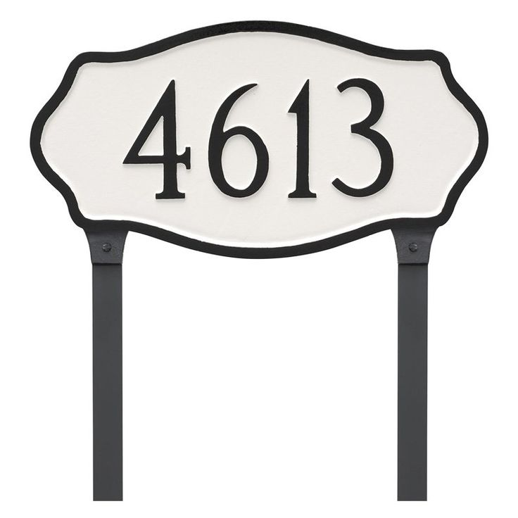 Montague Metal Hampton Estate Address Sign Lawn Plaque - PCS-0048E1-L-BW