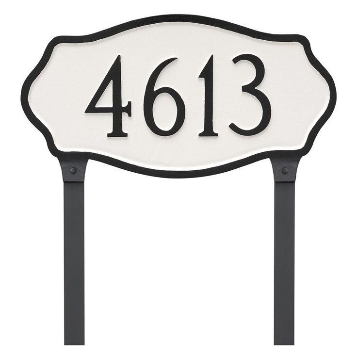 Montague Metal Hampton Estate Address Sign Lawn Plaque - PCS-0048E1-L-BW
