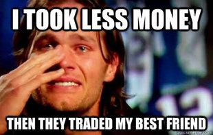 Tom Brady and Wes Welker Memes   Tom Brady Cry - Wes Welker Drop meme   quickmeme haha XD XD XD