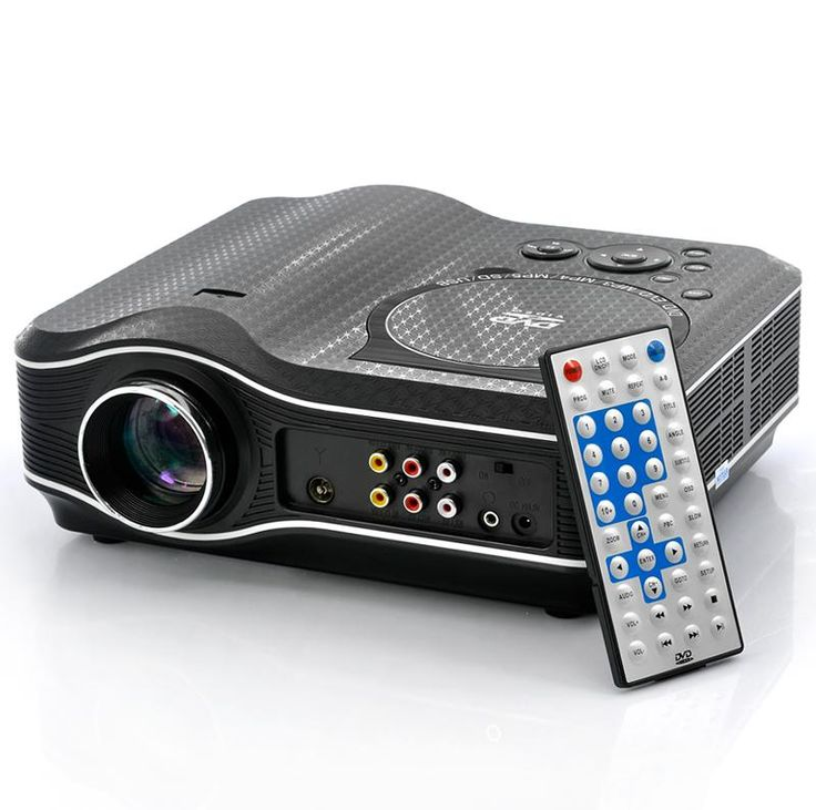 Proyector LED con reproductor de DVD - 800x600, 30 lúmenes, 100:1