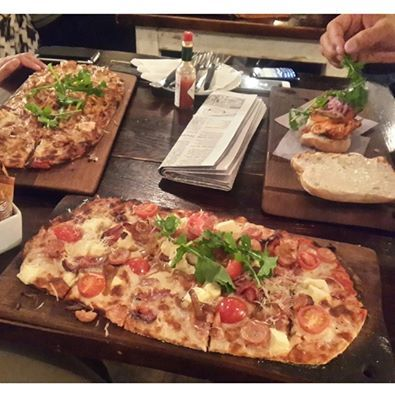 Gluten Free pizza at Knead. This place is great as there is a standard choice between gluten free pizzas and Italian. This is awesome because there is no extra charge for a gluten free base like most restaurants. Also, good to know that in the evenings all the pizzas are R50 bucks! #myglutenfreecapetown