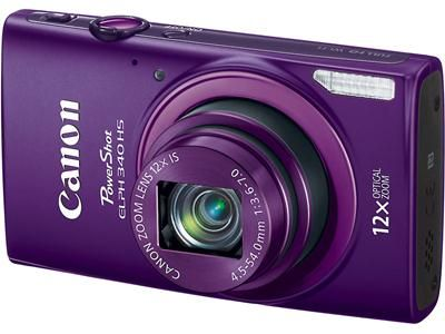 Purse sized so Mom can catch every moment!  Canon PowerShot ELPH 340 HS 16-megapixel digital camera with 12X optical zoom and Wi-Fi® (Purple)
