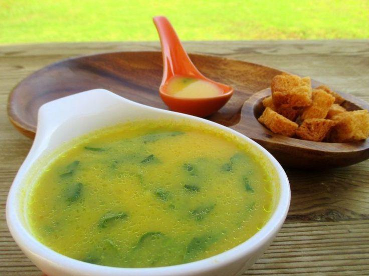 Sopa de espinacas y arroz con y sin thermomix - Receta Petitchef