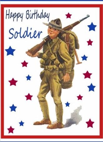 102 best vintage military images on pinterest vintage cards shop vintage military happy birthday card created by dogtagsandcombatboot bookmarktalkfo Image collections
