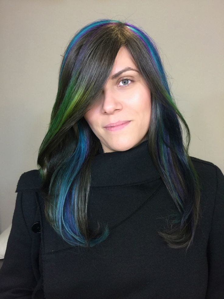 #unicorn-hair #rainbow-hair #bold-colors #natlook #longhair #haircolor #jbeverlyhills #1concept #yourbeautymasters