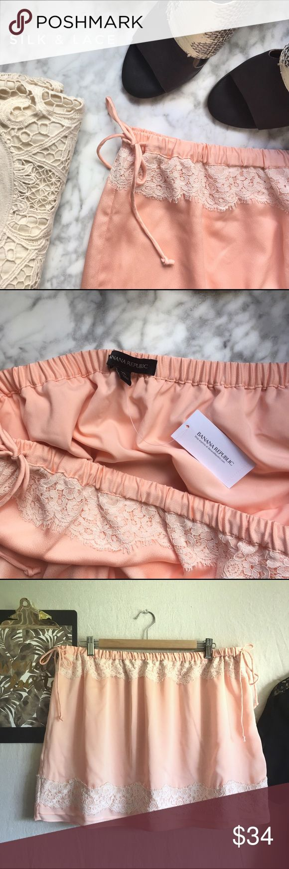 BR•Peach Hammered Silk Slip Skirt Ultra-feminine & romantic. Vintage inspired & adds a touch of 40's boudoir to your ensemble. Adjustable waist. Marked XL, Best fits sizes 10-12. Styled to be flouncy & sit low on the hips. Banana Republic Skirts Mini