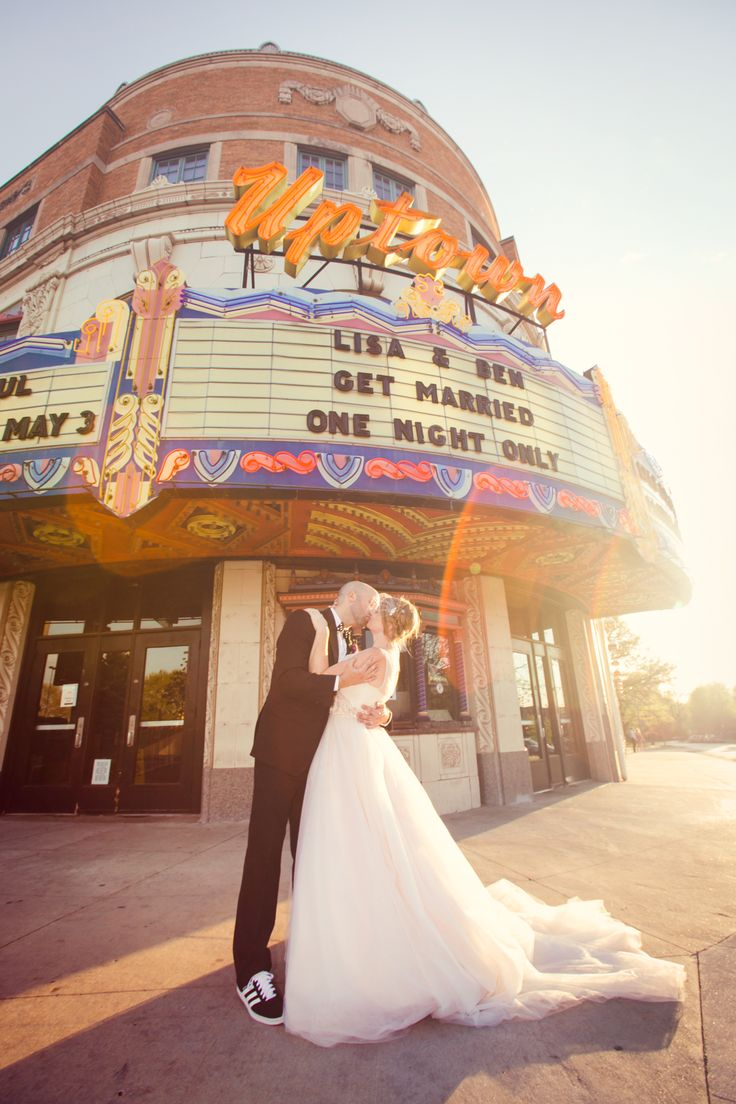 A Movie Theater, Hollywood-Themed Wedding at Uptown Theater in Kansas City, Missouri