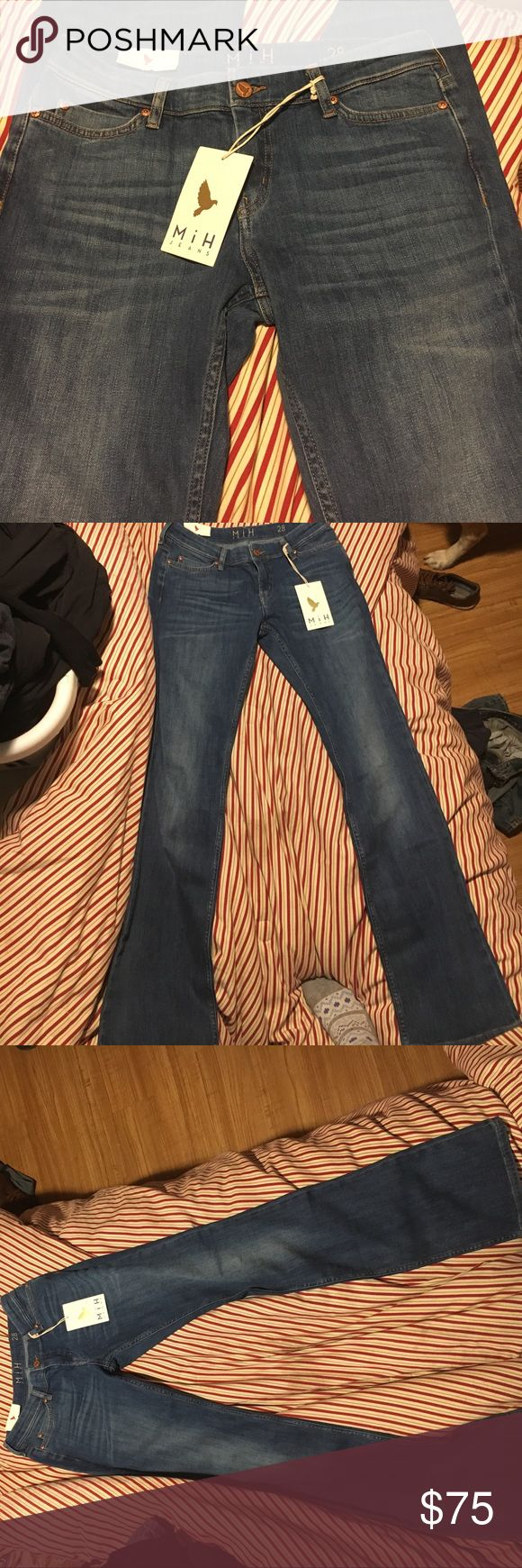 Made in Heaven (MIH) London jeans. Slight bootleg Brand new high end London jeans. Beautiful denim. MIH Jeans Boot Cut