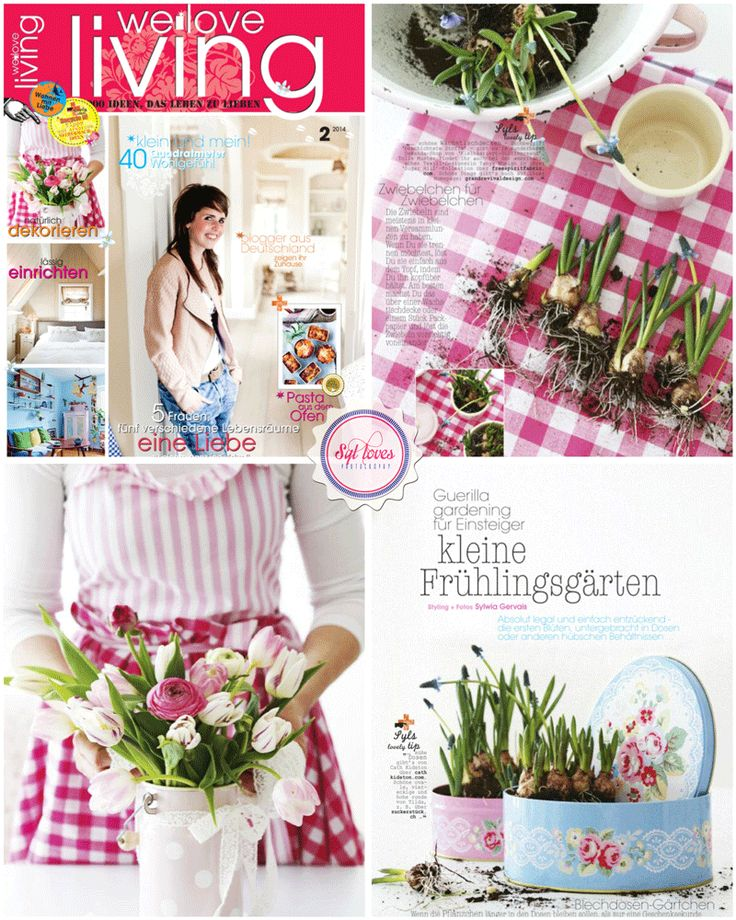 Syl loves for We love living magazine, pink, gingham, spring, flowers