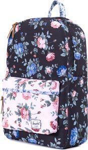 Herschel Heritage backpack black floral/pink floral
