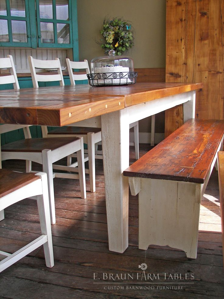 ... Base And White Manhattan Chairs To Match. White Is The New Popular  Color For Kitchens! Make Your Dining Area Look Open And Airy With Custom  Barnwood ...