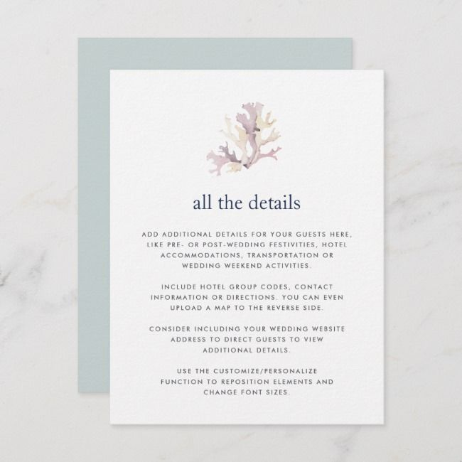 Create Your Own Enclosure Card Zazzle Com Wedding Enclosure Cards Wedding Details Card Wedding Invitation Inserts