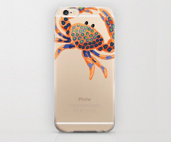 Crab iPhone 6 Case Ocean Creature Sea Phone Crabs iPhone 6s Pattern Colorful Animal Cartoon Graphic Clear Phone Case Apple iPhone 6s Plus by Looiko on Etsy https://www.etsy.com/listing/233900422/crab-iphone-6-case-ocean-creature-sea