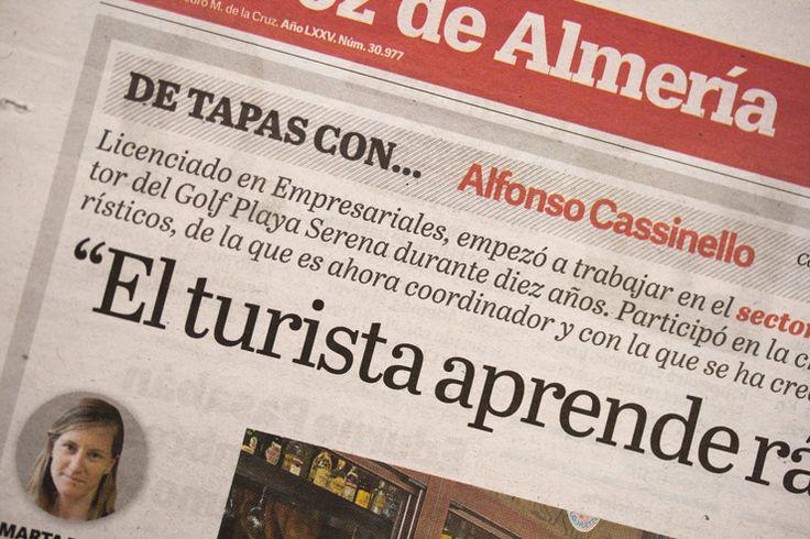 Type in use: Adelle Sans and custom font Almería, by TypeTogether,  in La Voz de Almeria.