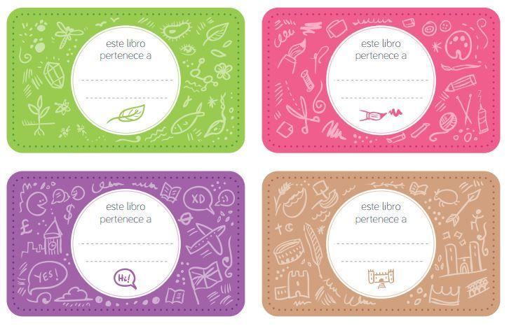 Etiquetas infantiles para cuadernos para imprimir gratis for Stickers infantiles