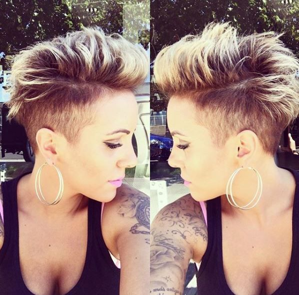 16x Tasty Wild And Edgy Short Hairstyles Edgy Short Hair Funky Short Hair Shaved Hair Designs