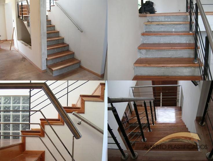 Revestimiento de escalera y plastificado trabajos con escaleras de maderas de alberplast - Revestimiento para escaleras ...