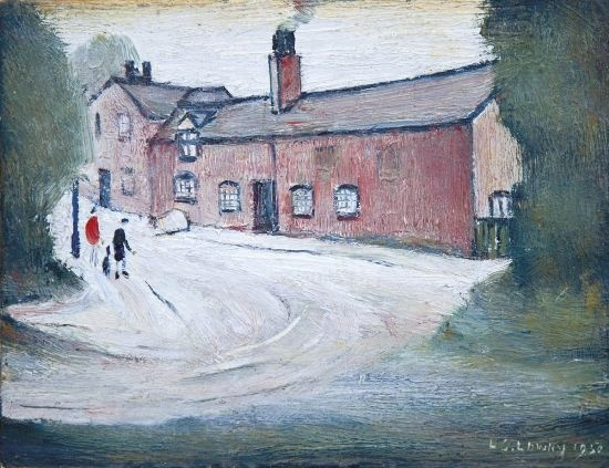 Mill at Moston by L.S.  Lowry