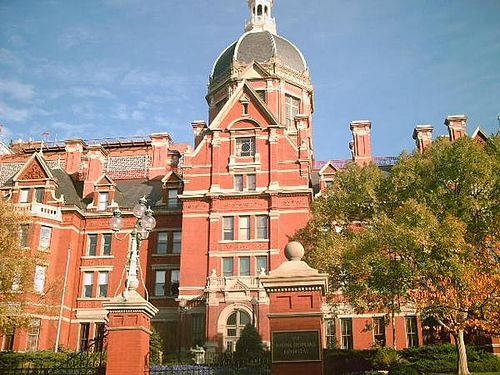 The Johns Hopkins Hospital is the teaching hospital and biomedical research facility of the Johns Hopkins School of Medicine, located in Baltimore City, Maryland, U.S. It was founded in 1889 using money from a bequest by philanthropist Johns Hopkins. Johns Hopkins Hospital and the school of medicine are the founding institutions of modern American medicine and the birthplace of numerous medical traditions including rounds, residents and housestaff.[4] Many medical specialties were formed at…