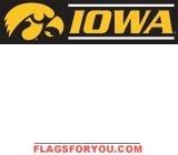 Iowa Hawkeyes Banner 8' x 2'
