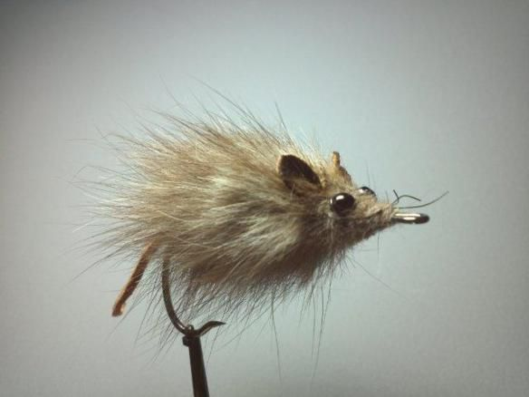 Real Mouse Fly Fishing SBS pattern for pike and bass and monster trout