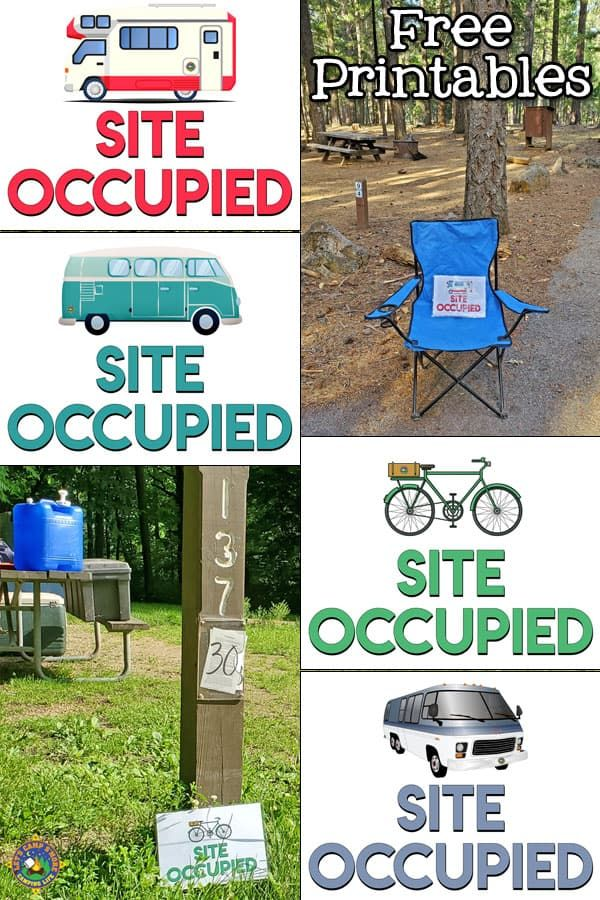 Free Site Occupied Camping Printables Need To Leave Your Campsite Unattended Download And Display A Fre Camping Printables Camping Signs Family Camping Trip