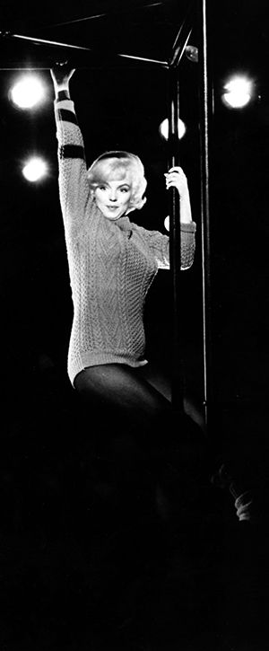 Marilyn Monroe during filming 'Lets Make Love' 1960