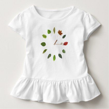 Natural clock style Toddler Ruffle Tee - toddler youngster infant child kid gift idea design diy
