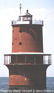 Thimble Shoal Light, Marks channel between tow bars at entrance to Hampton Roads.