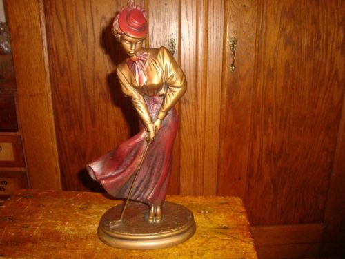 AUSTIN-Sculpture-St-Andrews-Breeze-AP3669-Golf-Signed-A-Danel-c-1992-Bronze