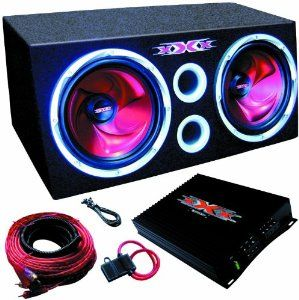 """XXX XBX1000 1000 Watt 10"""" Car Dual Bass Box System by XXX. $145.89. Two 10"""" High Power Subwoofers 40oz Double Stacked Strontium Magnet 1000 Watts Peak Power SPL: 87dB PWM MOSFET Power Supply Variable Crossover: High-Pass (75 Hz - 750 kHz), Low-Pass (50 - 150 Hz) Subwoofer Frequency Response: 24 Hz - 1 kHz Amplifier Frequency Response: 10 Hz - 40 kHz Fiberboard Construction Durable Ultra Black Carpeting Brand NEW"""