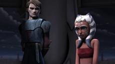 Ahsoka Tano and her master, Anakin Skywalker.