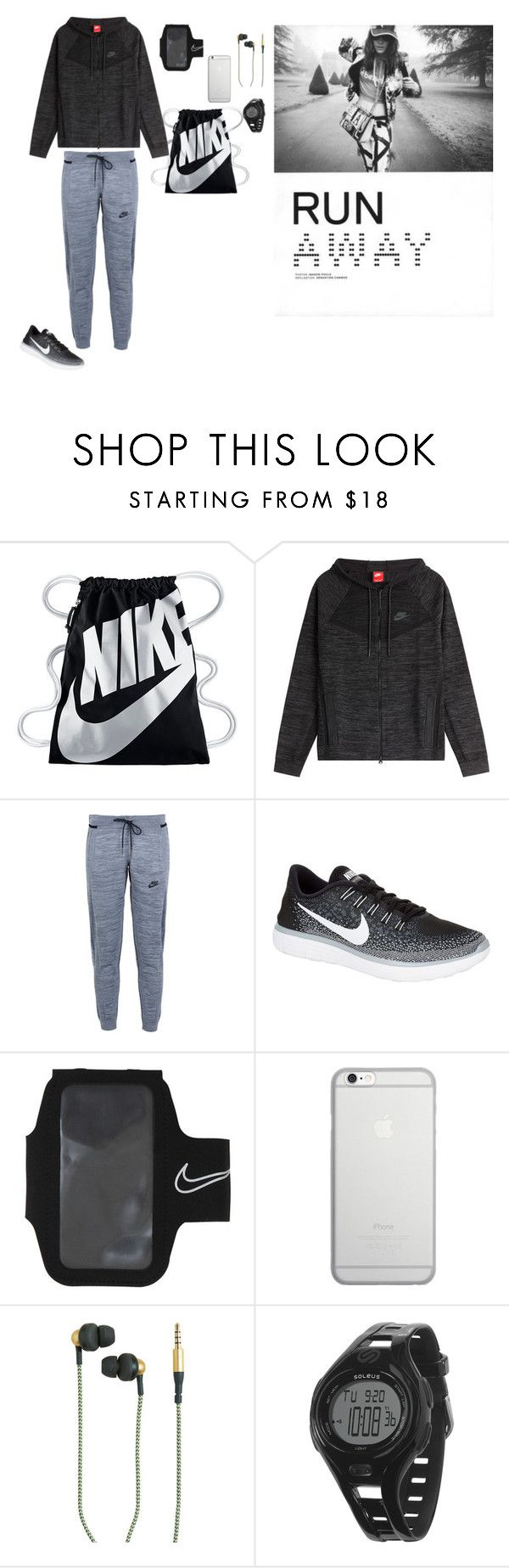 """Run Away"" by barbi2003 on Polyvore featuring NIKE, Native Union, Kreafunk and Soleus"