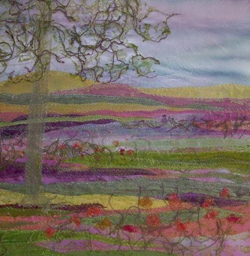 Springtime View Judith Reece textile design