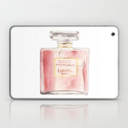 chanel mademoiselle perfume. chanel mademoiselle perfume bottle laptop \u0026 ipad skin