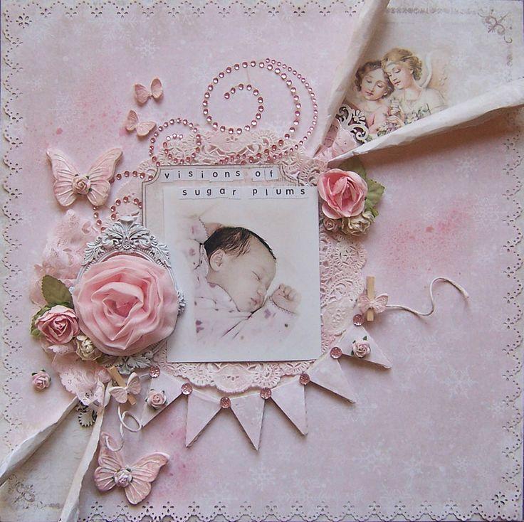 Shabby Chic Butterfly Clay Embellishment Set by LittleScrapShop   #Crafts #craftsforgirls #craftideas
