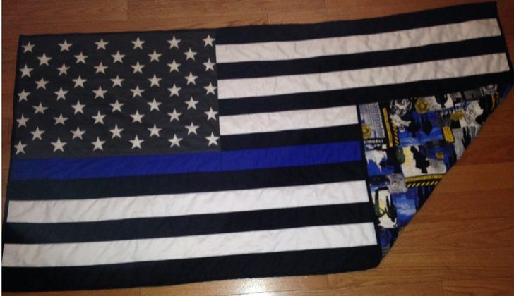 Impressive Thin Blue Line Quilt And Ideas Of Lap Quilt Pattern Lap Quilt Patterns Blue Quilt Patterns Thin Blue Line Flag