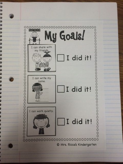 Creating & Setting Student-Led Goals in the Kindergarten Classroom