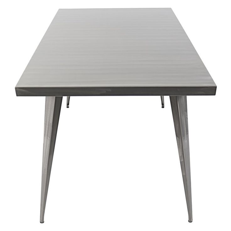 Defined By Its Clean Lines, Matte Finish, And Understated Design, This  Sleek Metal Dining Table Adds Sophisticated Style To Your Entertaining  Ensemble.