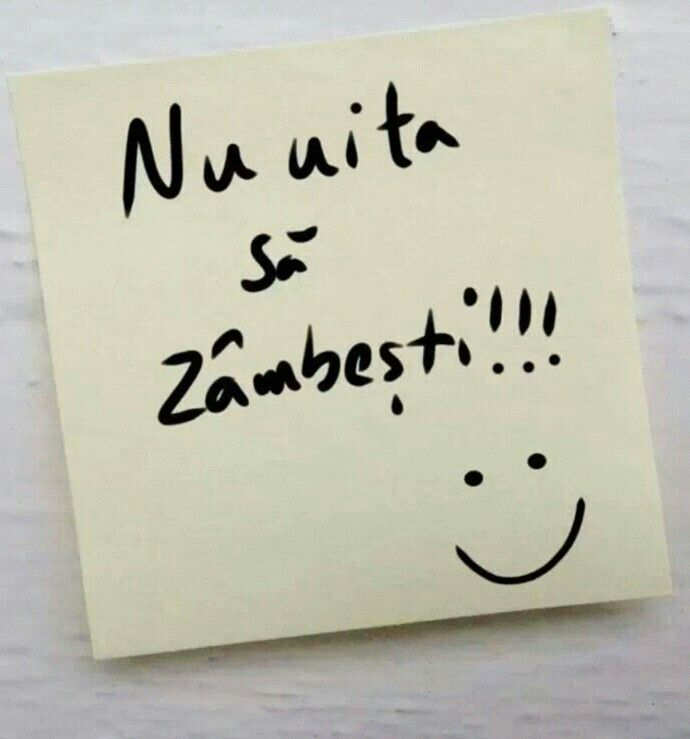 Nu uita sa zambesti ! :)