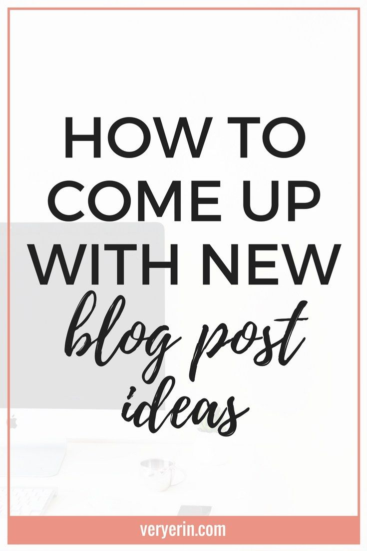 How to Come Up With New Blog Post Ideas | Coming up with new blog post ideas is one of the biggest hurdles for new bloggers. If this something you're struggling with, this post is for you!